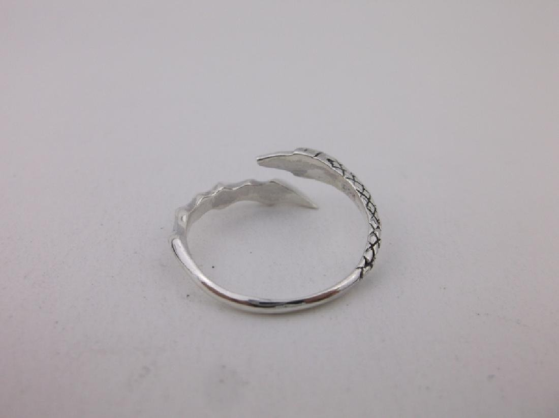 Stunning Sterling Dragons Claw Wrap Ring 7 - 3