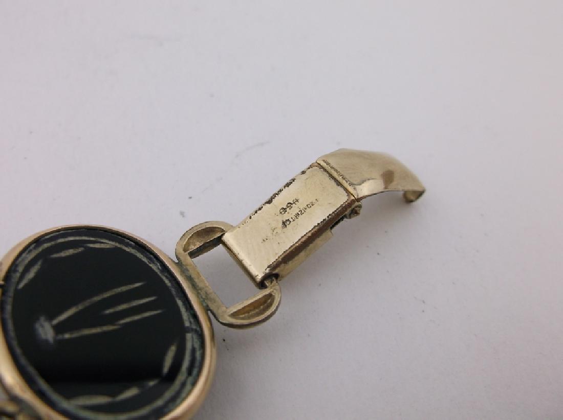 Rare Harry S Bick 12kt GF Gem Scarab Bracelet - 5