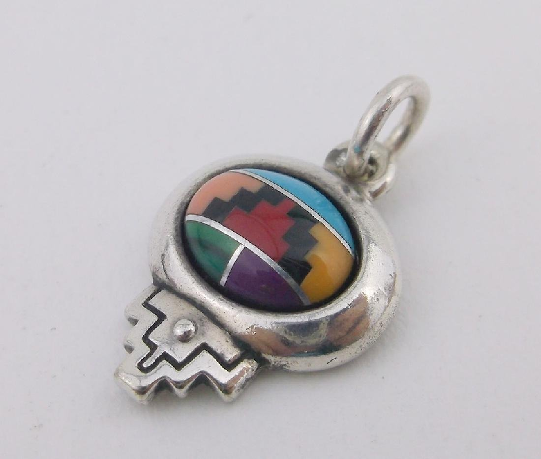 Stunning Navajo Sterling Silver Turquoise Pendant