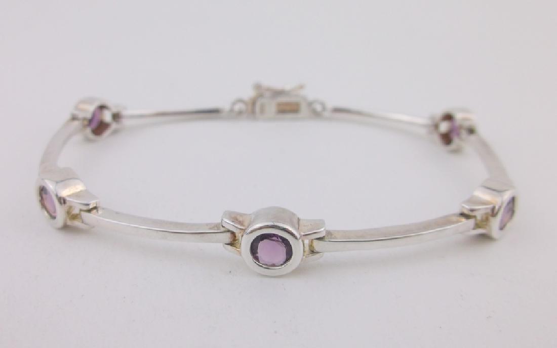 Stunning Sterling Silver Amethyst Bracelet