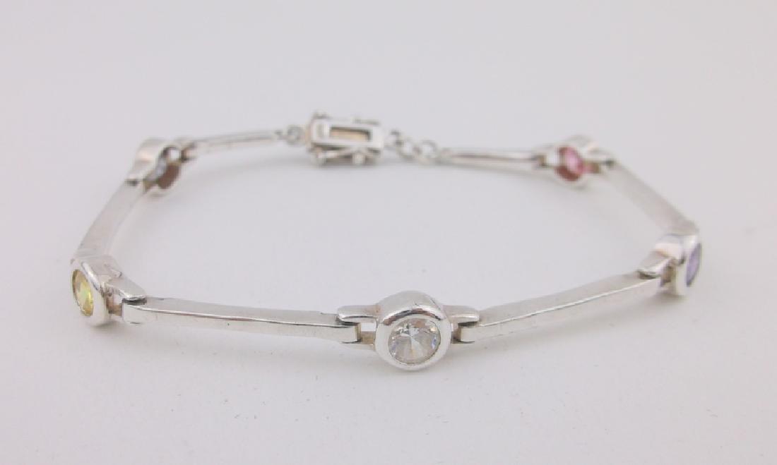 Stunning Sterling Silver Multi Gemstone Bracelet