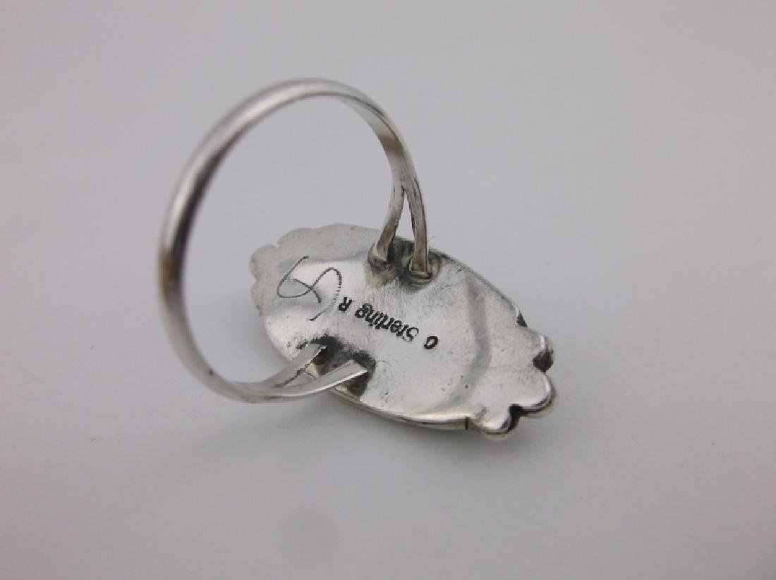 Gorgeous Navajo Sterling Silver MOP Ring 8 OR - 2