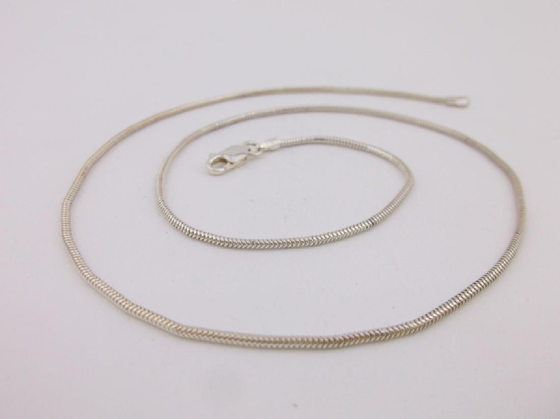 """Stunning Sterling Silver Chain Necklace 18"""""""