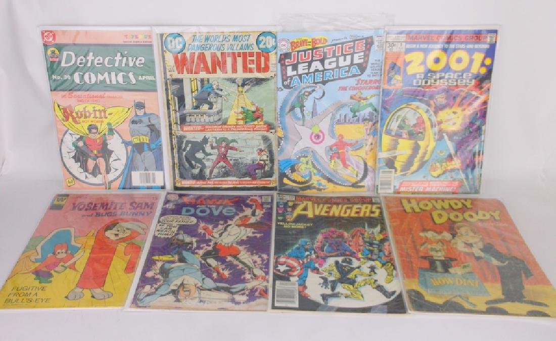 Lot of 8 DC & Marvel Comic Books 1950s & Up