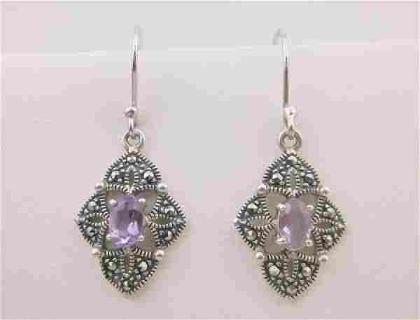 Stunning Sterling Silver Amethyst Earrings
