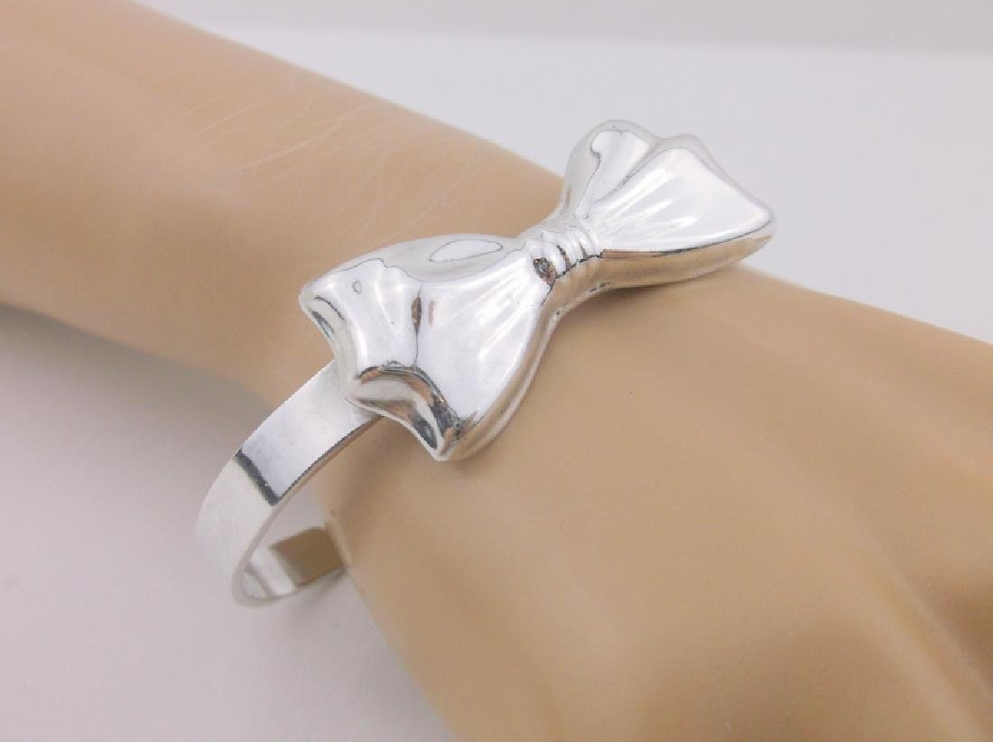 Very Heavy Sterling Thick Bow Cuff Bracelet Stunning
