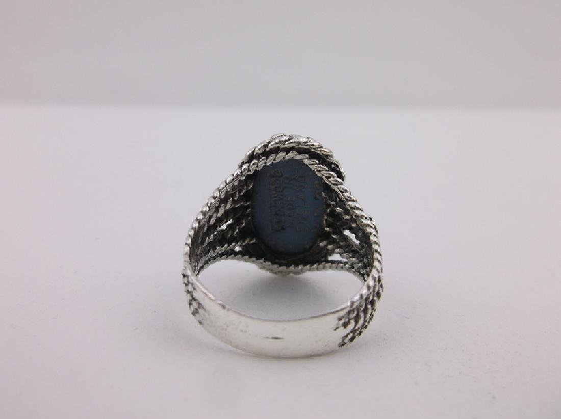 Vint Wedgewood Sterling Silver Cameo Ring 6 Stunning - 3