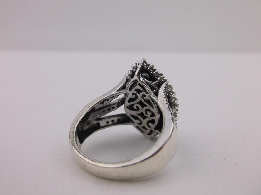 Stunning Sterling Silver 127 Genuine Diamond Ring 7 - 3