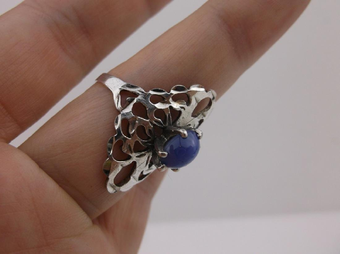 Stunning Sterling Silver Star Sapphire Ring 10 - 3