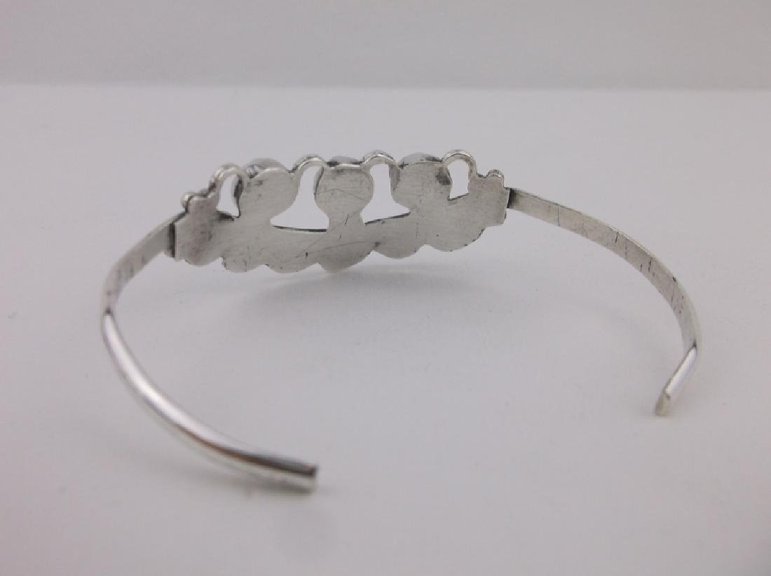 Stunning Navajo Sterling Turquoise Cuff Bracelet - 4