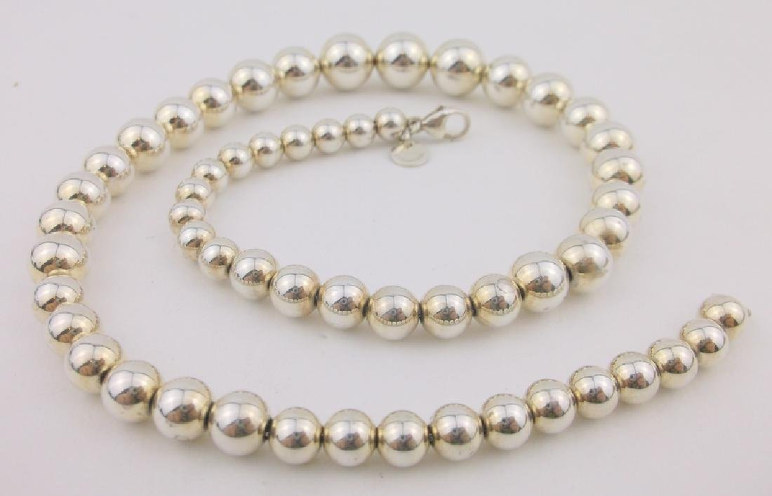 736e29ce3 Authentic Tiffany & Co. Sterling Ball Necklace 16
