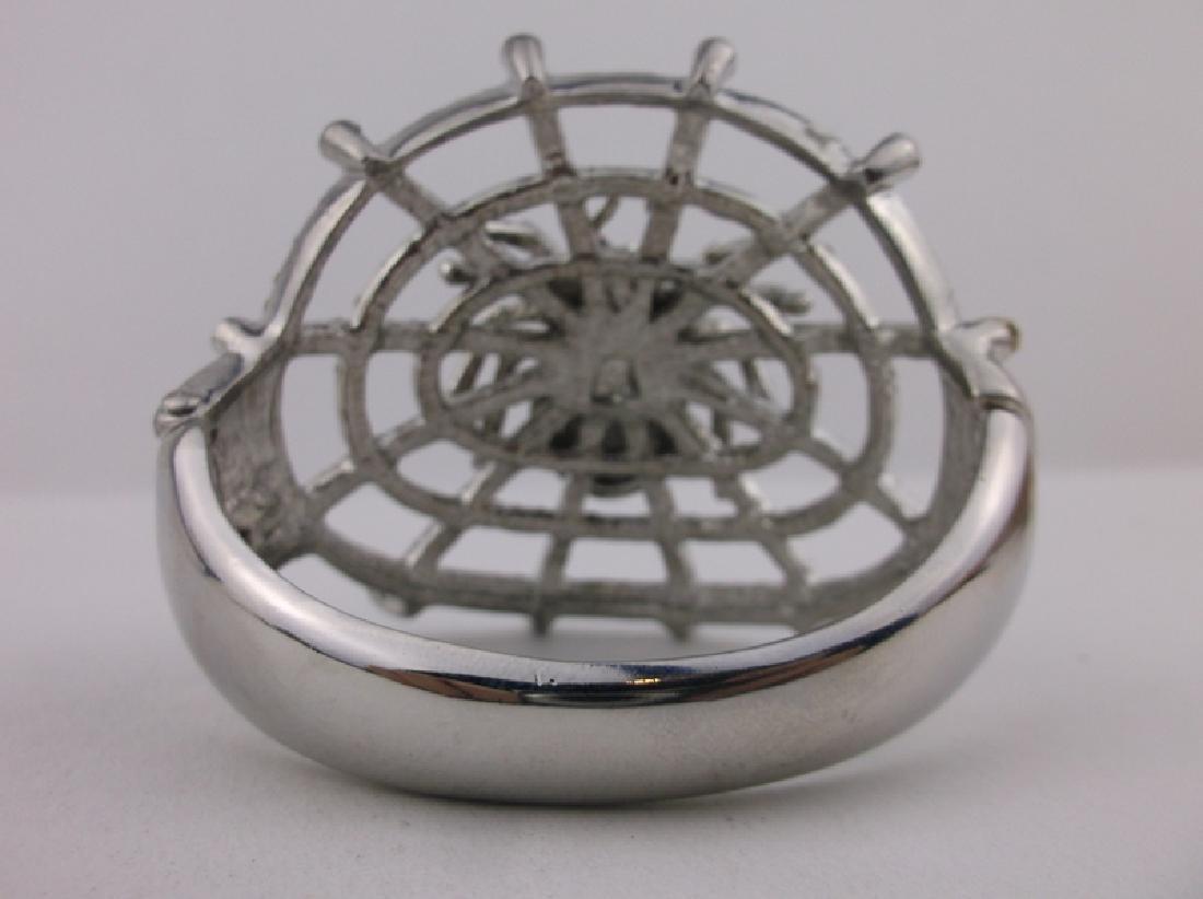 Stunning Huge Rhinestone Spider Web Bracelet - 4