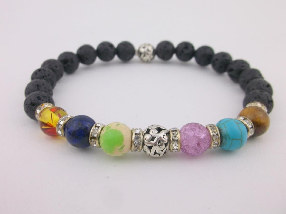New Healing Gemstone Chakra Bracelet