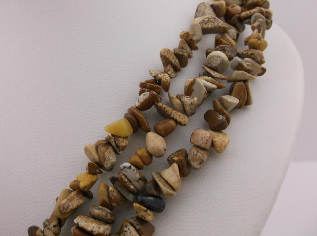 "Stunning Huge Genuine Jasper Southwestern Necklace 20"" - 4"