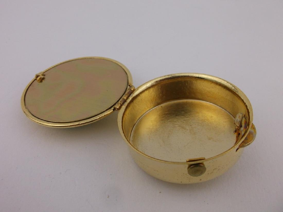Stunning Vint Enameled Babys First Curl Box - 2