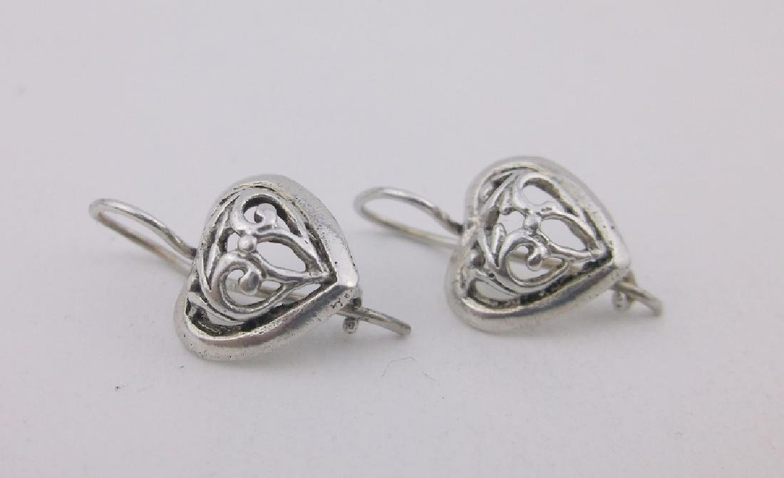 Gorgeous Sterling Silver Heart Earrings