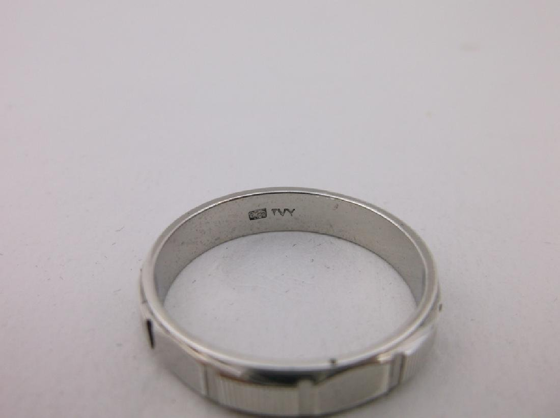 Stunning Sterling Silver Mens Band Ring 12 - 2