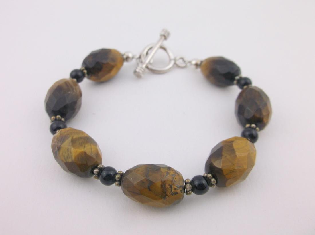 Gorgeous Sterling Silver Tigers Eye Bracelet