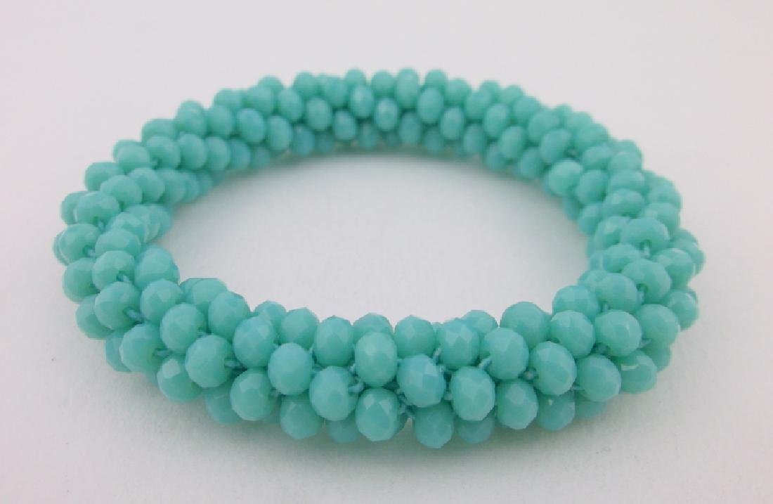 New Healing Blue Crystal Geode Bracelet