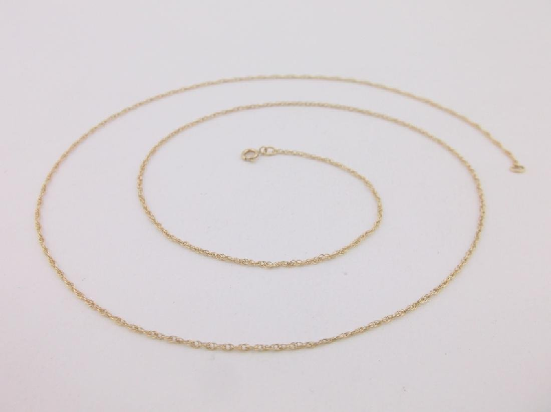 """Stunning 10kt Gold Chain Necklace 20"""""""