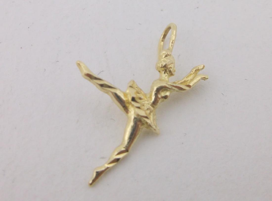 Stunning 14kt Gold Ballerina Pendant
