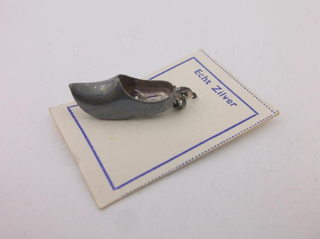 Antique Sterling Silver Clog Shoe Charm