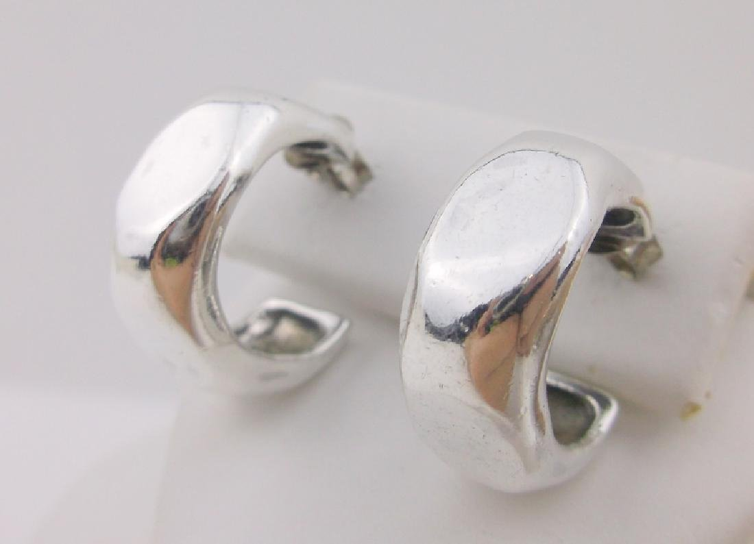 Stunning Heavy Thick Sterling Silver Stud Earrings