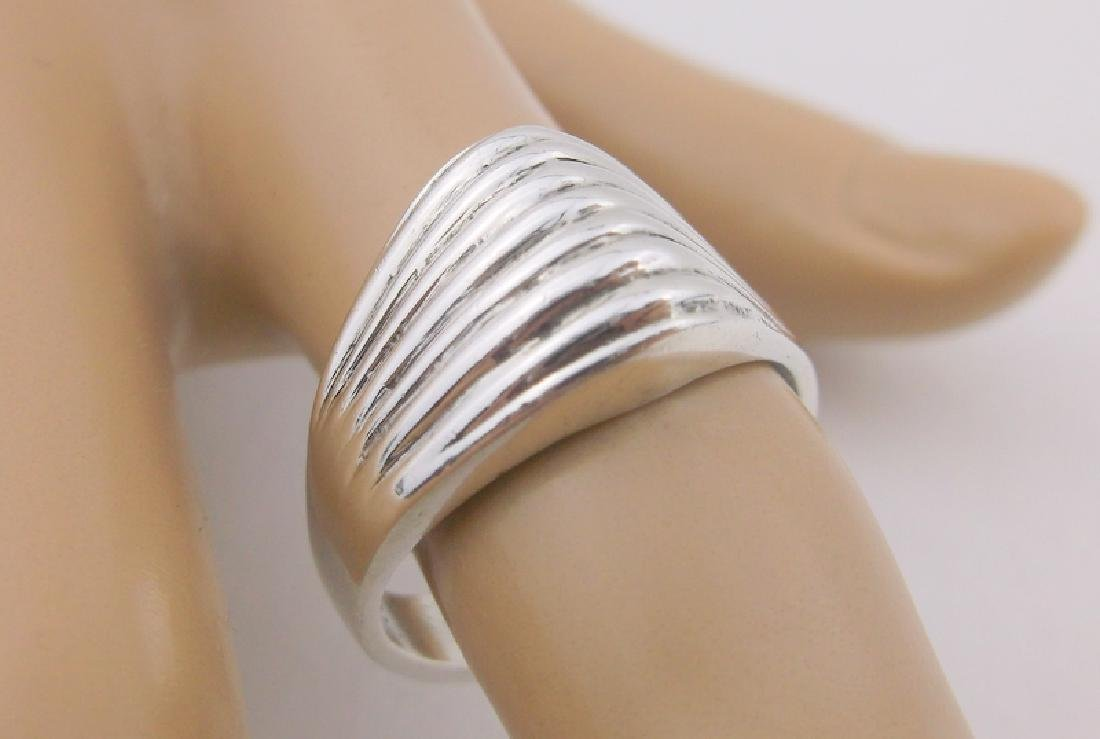 Stunning Heavy Thick Sterling Silver Ring 8.5
