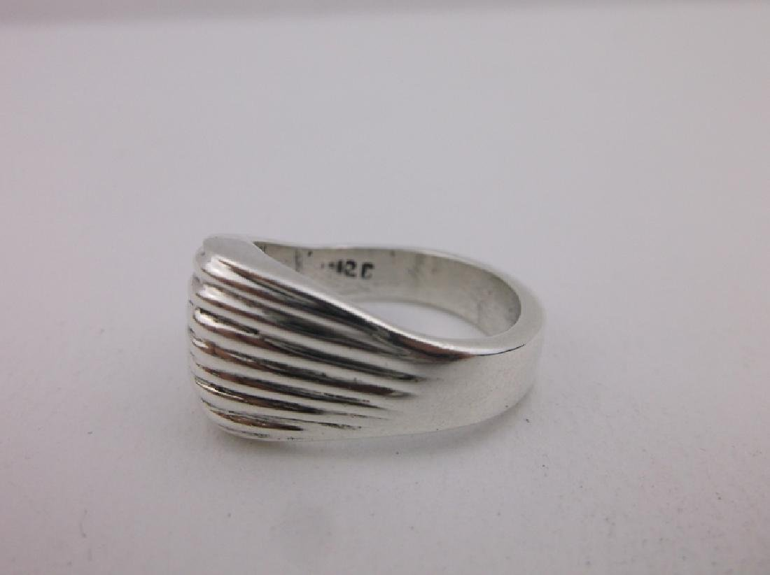Stunning Heavy Thick Sterling Silver Ring 8.5 - 2