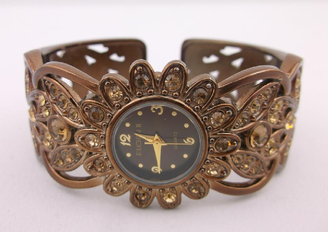 Stunning Elgin Cuff Wristwatch Works Perfect