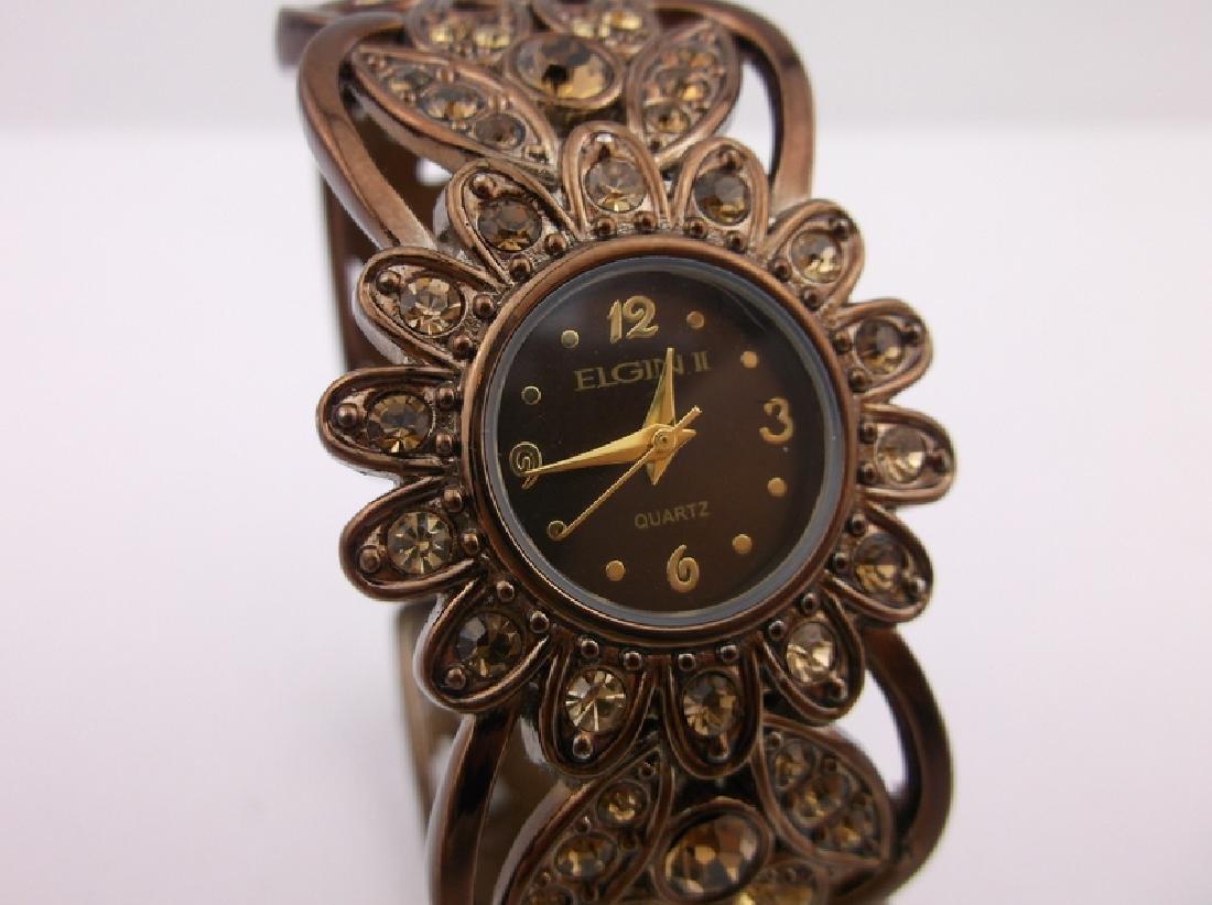 Stunning Elgin Cuff Wristwatch Works Perfect - 2
