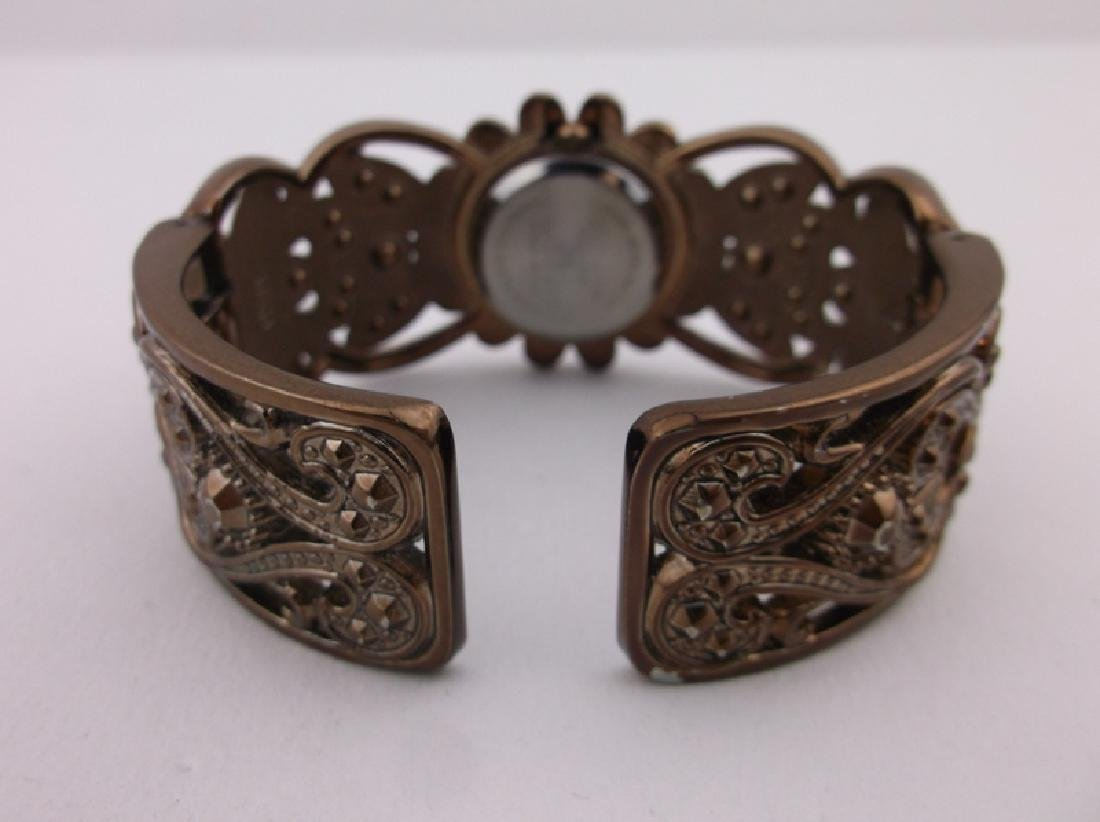 Stunning Elgin Cuff Wristwatch Works Perfect - 3