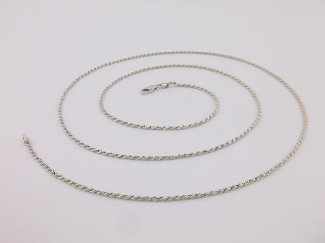 """Stunning Sterling Silver Rope Chain Necklace 30"""""""