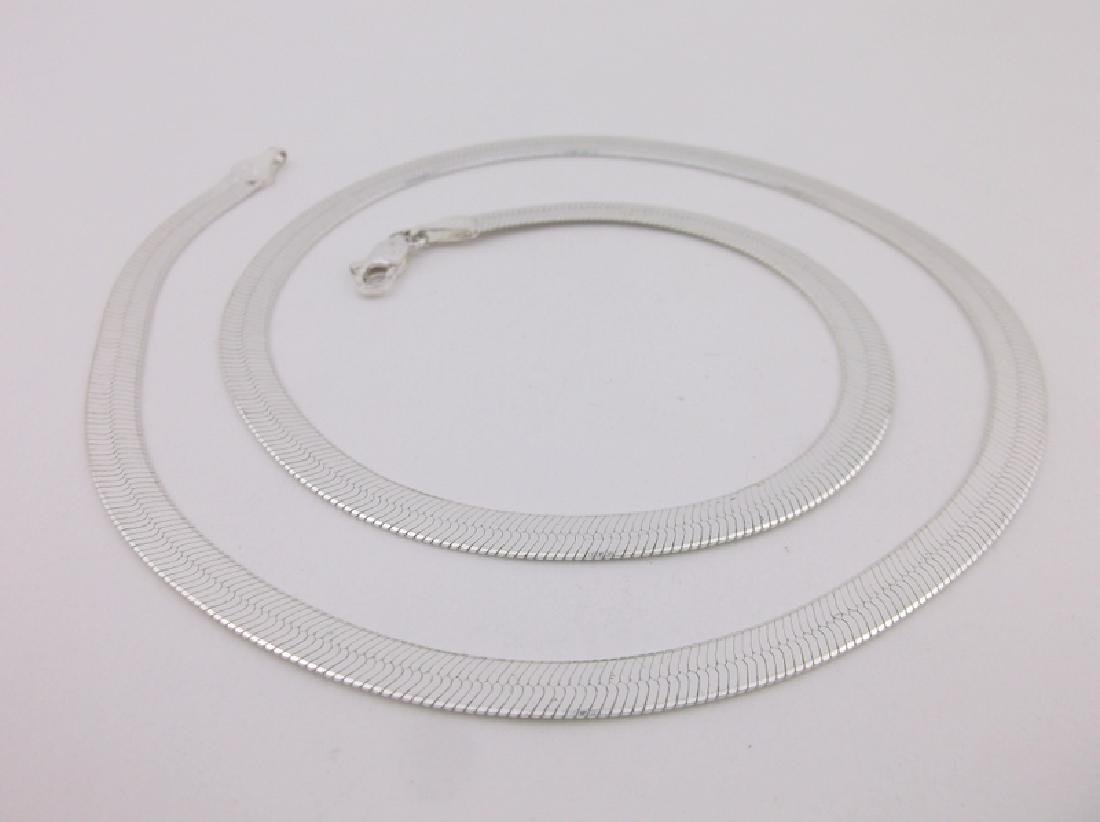 """Stunning Heavy Sterling Silver Chain Necklace 20"""""""