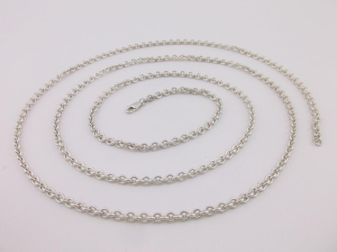 Stunning Super Heavy Sterling Silver Chain Necklace 40""