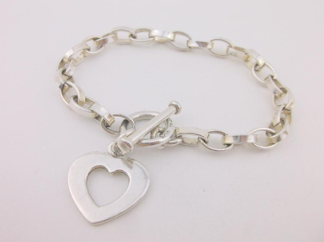 Gorgeous Heavy Sterling Chain Toggle Bracelet