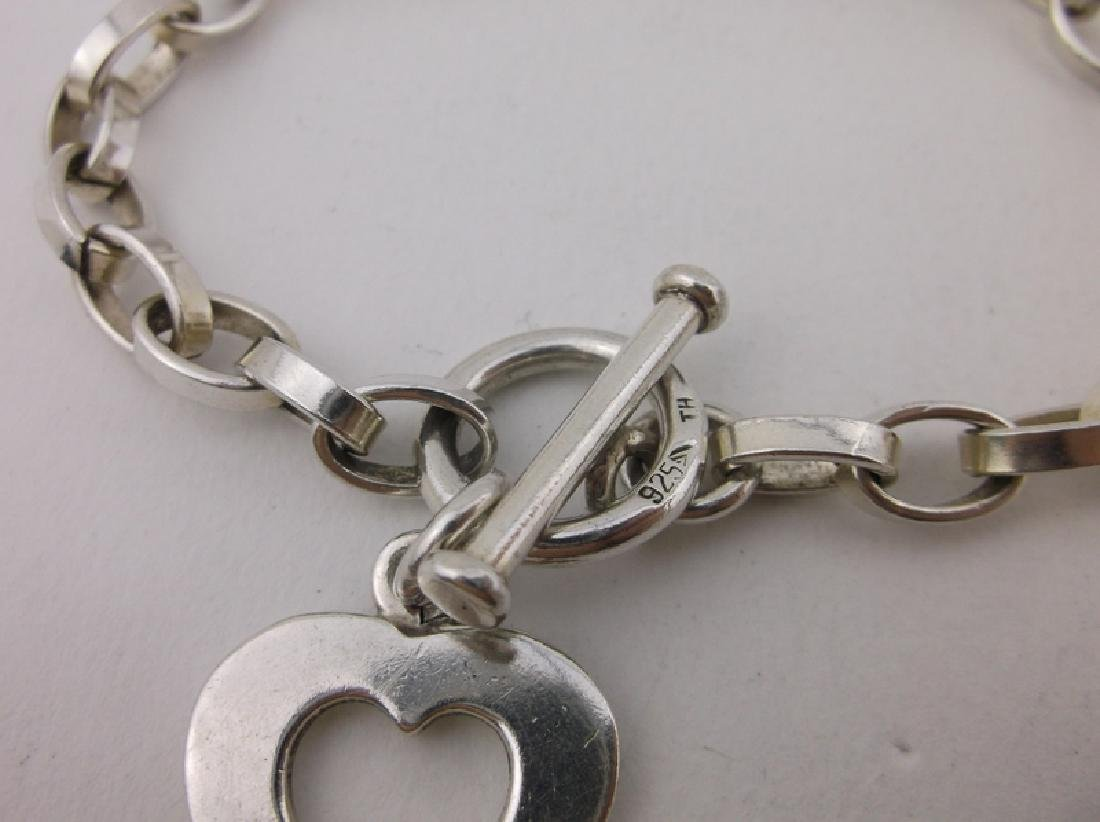 Gorgeous Heavy Sterling Chain Toggle Bracelet - 2