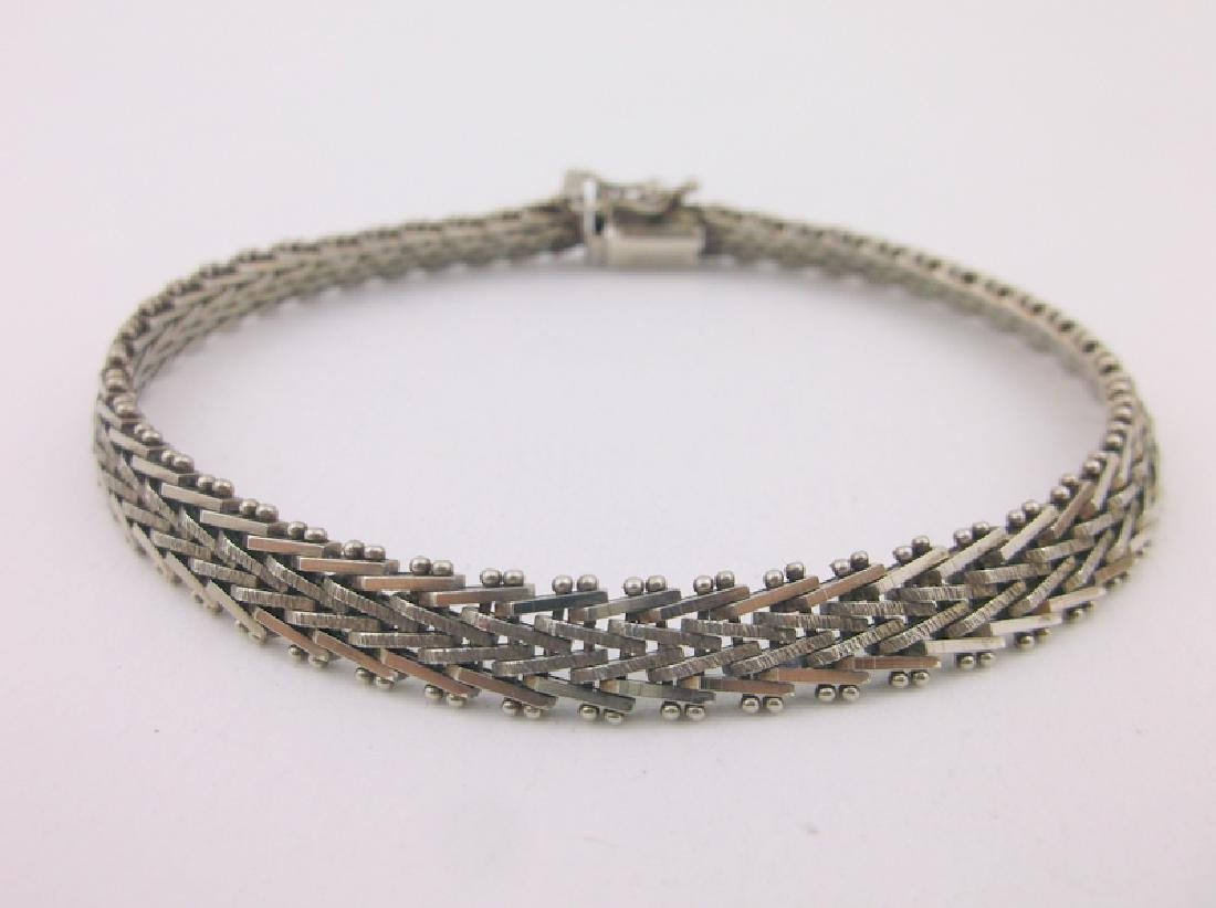 Stunning Thick Sterling Silver Chain Bracelet