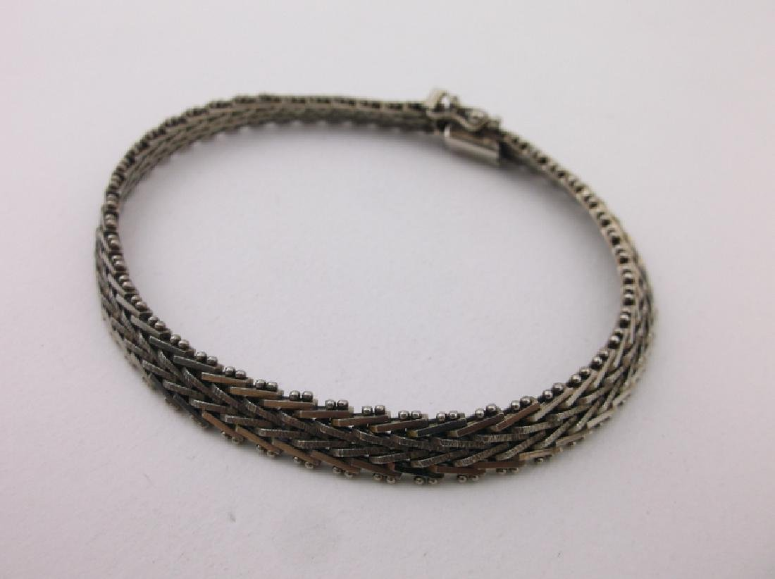 Stunning Thick Sterling Silver Chain Bracelet - 2