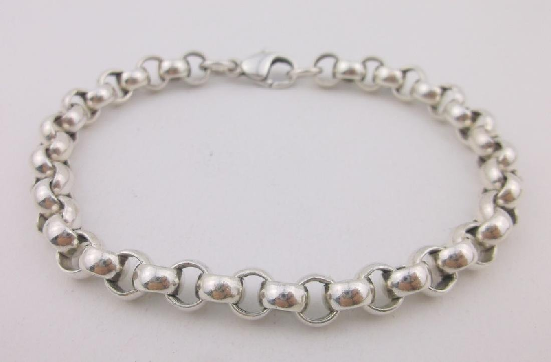 Stunning Heavy Thick Sterling Chain Bracelet