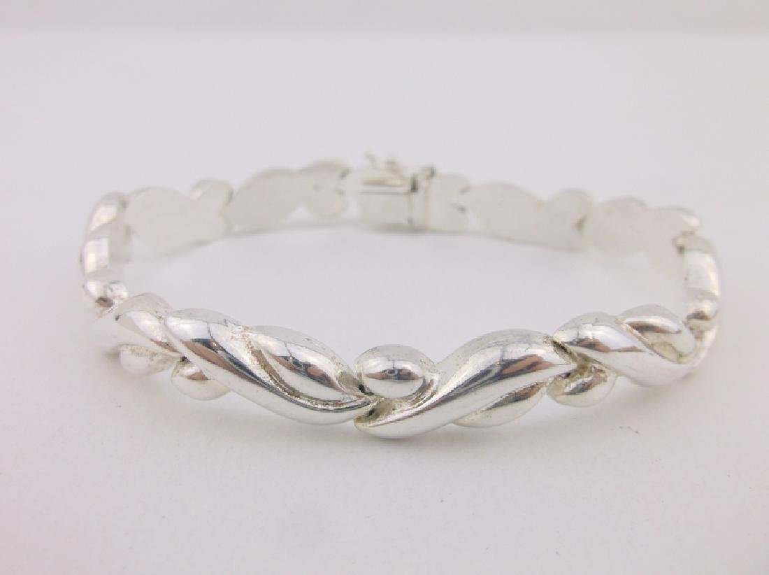 Gorgeous Thick Sterling Silver Bracelet