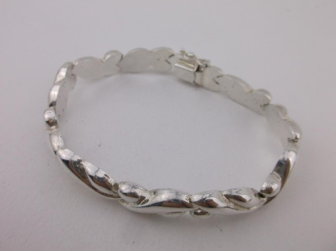 Gorgeous Thick Sterling Silver Bracelet - 2