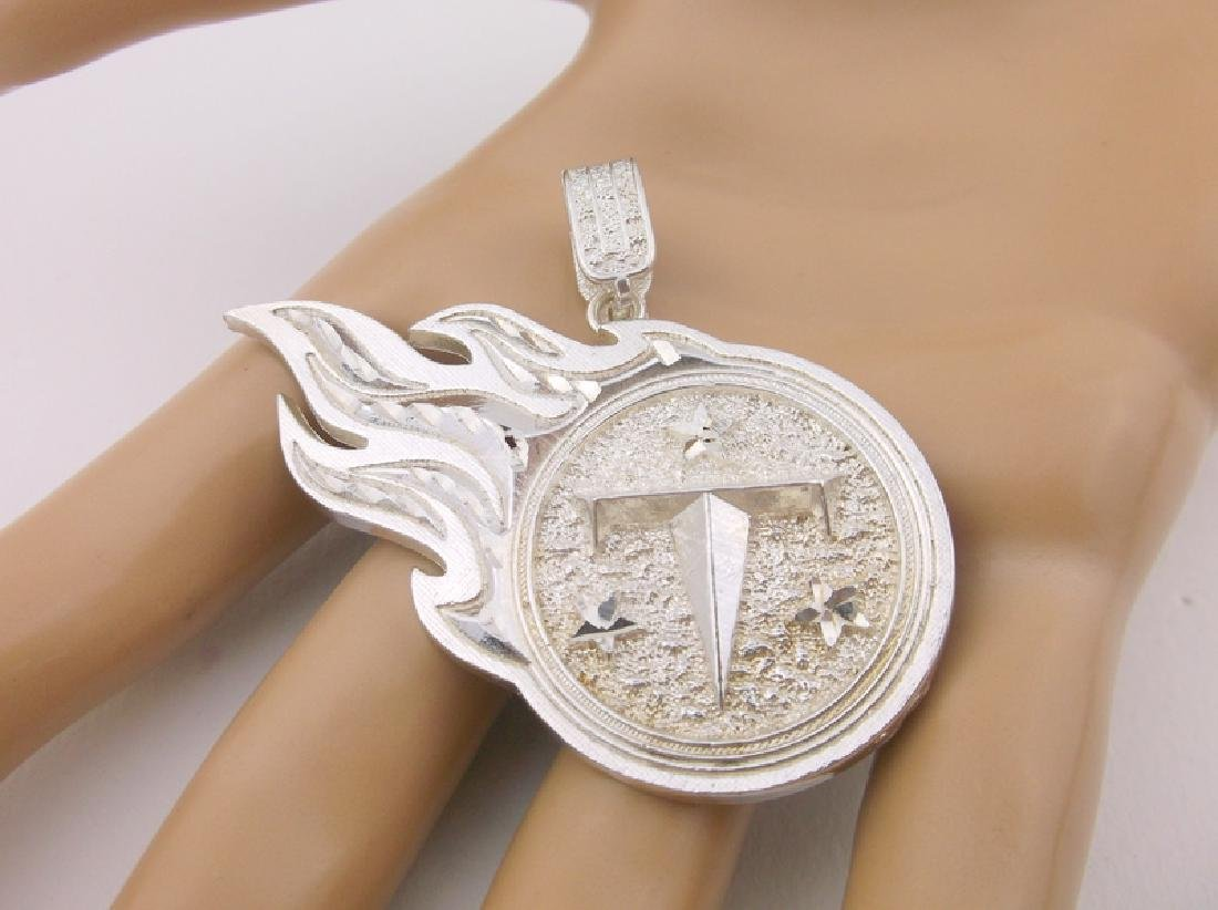 Stunning Heavy Sterling Tennessee Titans Pendant