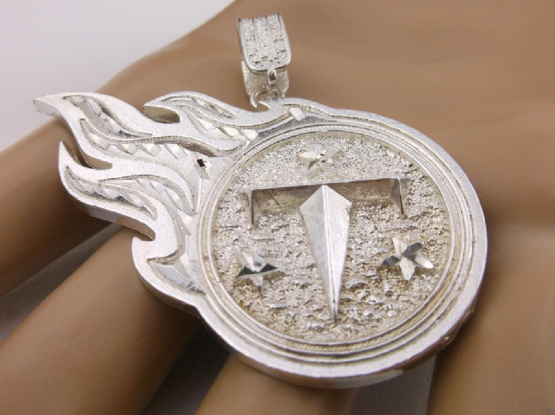 Stunning Heavy Sterling Tennessee Titans Pendant - 2