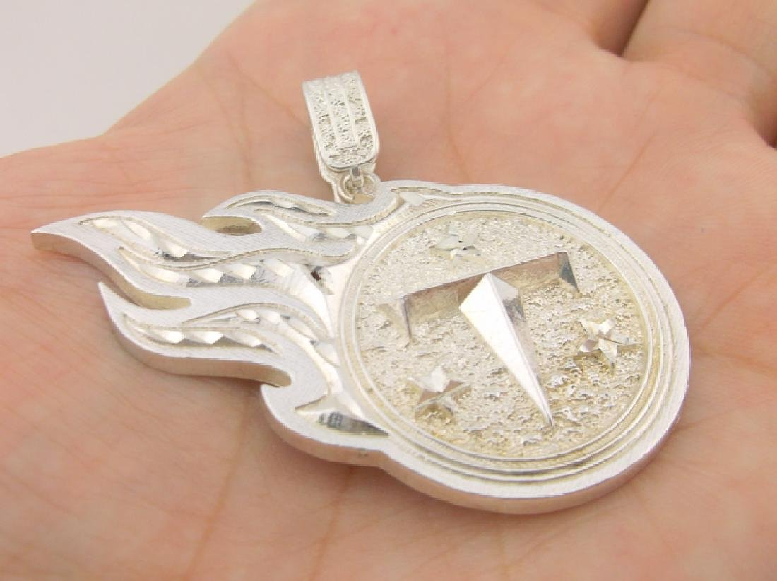 Stunning Heavy Sterling Tennessee Titans Pendant - 3