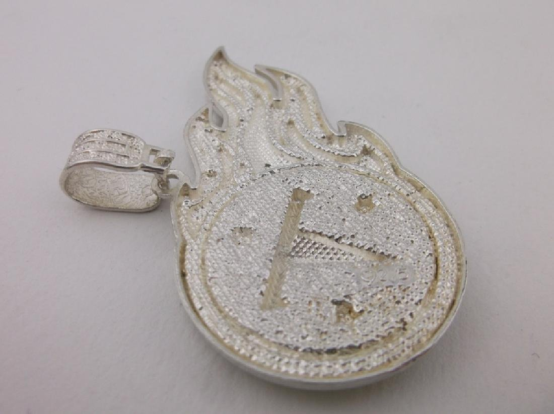 Stunning Heavy Sterling Tennessee Titans Pendant - 5
