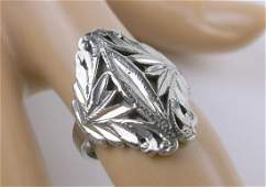 Gorgeous Vintage Sterling Silver Ring 65