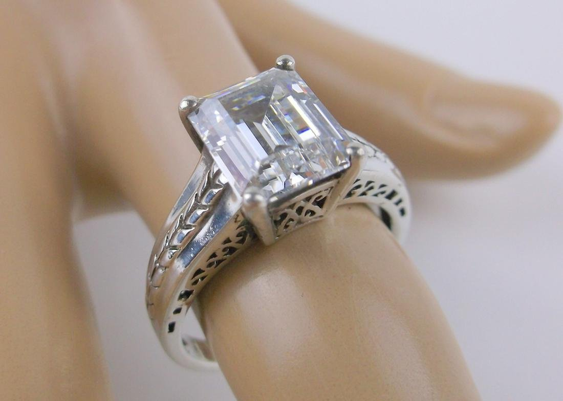 Incredible Sterling Silver Engagement Ring 8.5