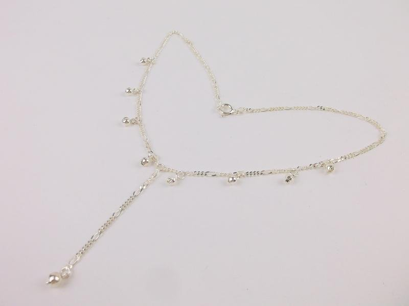 """Stunning Heavy Sterling Dangly Chain Necklace 16"""""""