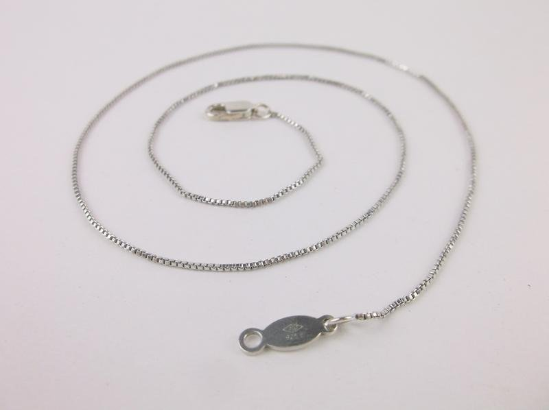 """Stunning Vint Judith Jack Sterling Chain Necklace 16"""""""